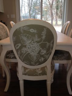 Choose A Fabric, Choose A Design And Chairs Are Hand Painted Just For You.