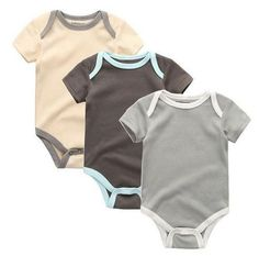 Baby/Toddler Boys Everyday Rompers (3pcs)