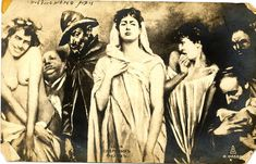 The Seven Deadly Sins: Russian postcard. Examination Of Conscience, Seven Deadly Sins, Old Postcards, Poster, Statue, This Or That Questions, Artwork, 10 Commandments, Fiat