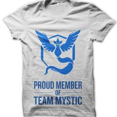 Proud Member of Team Mystic t-shirt by Clique Wear Pokemon T, Mystic, Mens Tops, T Shirt, How To Wear, Women, Tee, Women's, Tee Shirt