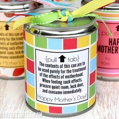 "Handmade mother´s day gift jars, great for storing redeemable ""10 minutes of silence"" ""no complaints"" ""free night off from housework"" ""free night off from cooking"" ""special dinner out"" coupons and so on.... also great for ""free foot massage"" ""free back massage"" ""extra big hug"" ""free bubble bath"" coupons.... mom deserves it all!"