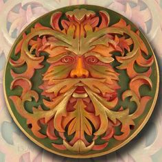 Green Man - Autumnal Plaque by Mythic Images
