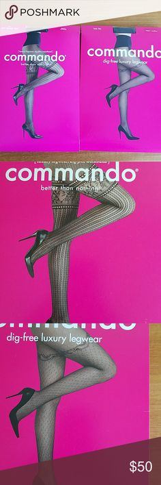 Commando unopened tights Two pairs Comanndo unopened tights. Beautiful designs! Commando Intimates & Sleepwear Shapewear