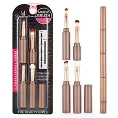 Susenstone Multi-function folding makeup brush (Coffee) >>> Click image for more details. (This is an affiliate link) #BrushSets