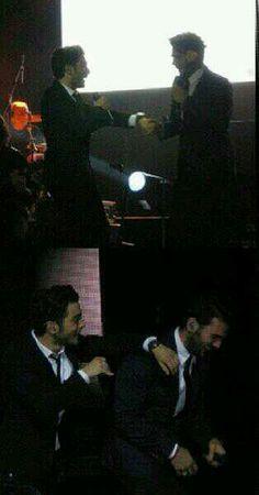 Gianluca & Ignazio having fun... Mas Que Amor Tour