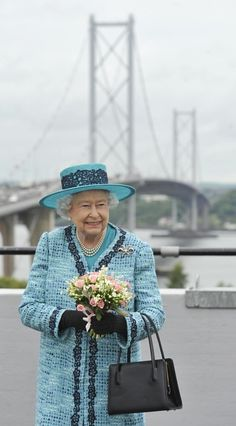 thebritishnobility: Queen Elizabeth marked the 50th anniverary of the Forth Road Bridge, Edinburgh, July 4, 2014