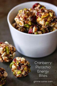 Cranberry Pistachio Energy Bites