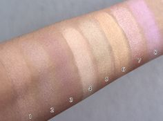 neutral shimmer eyeshadow swatches