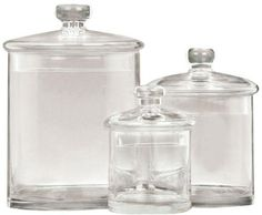 Adelle Jar Set Of 3 S3 975H CLEAR GLASS >>> Read more at the affiliate link Amazon.com on image.