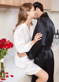 Night Wear Lingerie, Lingerie Shoot, Mens Silk Pajamas, Boudior Poses, Silk Robe Long, Indian Wedding Couple Photography, Kurti Designs Party Wear, Digital Art Girl, Couple Aesthetic