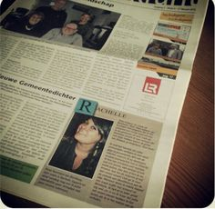 Very very proud with the front page-introduction @ the MooiBernheze Krant.