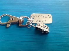 A movie line classic .Cousin Eddie from National Lampoons Christmas Vacation. Shitters Full Camper charm comes on a keychain with custom stamped stainless steel tag. Yes, you can change customize this item however you want. Happy Camper Canned Ham Camper Life, Rv Campers, Rv Life, Happy Campers, Diy Camper, Popup Camper, Cousins, On The Road Again, Remodeled Campers