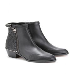 A girl can dream.... love these Chloé Spitz Inlet End leather ankle boots.