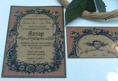 Vintage romantic french wedding invitations