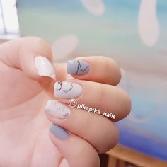 grey looks great  #셀프네일 #cute #nailartjunkie #fashion #art #watercolor #beauty #ネイルサロン #watercolornails #naildesign #nailsalon #nail #selfnail #네일 #design #polish #wedding #watercolornail #ネイルアート #pikapika_nails #ネイル #nailart #nailswag #수채화네일 #젤네일 #gelnail #네일아트 #nailpolish #젤아트 #watercolornailart