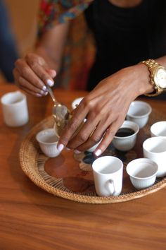 Spiced butter in coffee. An Ethiopian tradition.