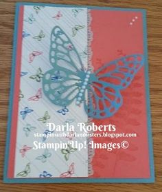 Stampin with Darla and Sisters: ICS Blog Hop Butterflies Are Free