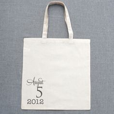 Date welcome wedding tote set of 20 on sale for $100.00