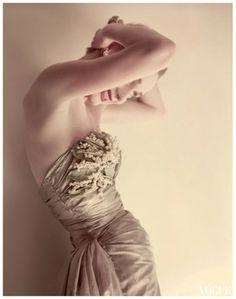 Photographer Norman Parkinson For Vogue, 1951, Ballgown Faith Jaques