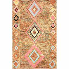 nuLOOM Handmade Looped Moroccan Wool Rug Multi (5' x 8')   Overstock.com Shopping - Great Deals on Nuloom 5x8 - 6x9 Rugs