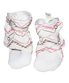 Loving this Bestaroo Pink Triangle Booties on #zulily! #zulilyfinds