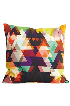 Colorfull triangles in a funny pillow.
