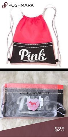"🆕NWT VS PINK drawstring backpack 🚫ANY RUDE COMMETS ABOUT MY PRICE WILL GET YOU BLOCKED INDEFINITELY🚫 ♏️ERCARI PRICE: $20 SEARCH FOR USERNAME: Candy Land  ✅NWT VS PINK drawstring backpack    ‼️PRICES ARE FIRM ~ My items are priced at the lowest already. Please do not ask ""lowest"". Remember Posh takes a fee 😩  💟DON'T LIKE MY PRICE ON POSH? MY MERCARII PRICE IS  CHEAPER!💟 ⭐️NWT VS PINK items for sale on my page! 🚫PRICE IS FIRM EVEN WHEN BUNDLED 🚫NO MODELING 🚫I DON'T TRADE ✋LOWBALLS…"