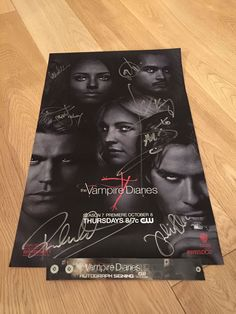 SDCC 2015 THE VAMPIRE DIARIES SIGNED AUTOGRAPH CAST POSTER PROOF COMIC CON