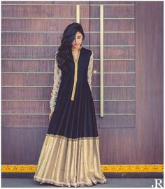 Buy latest Anarkali salwar kameez from our different range of Salwar suits online. Mirraw offers best discounts and deals on shopping for Indian Anarkali Dresses. Anarkali Dress, Lehenga Choli, Black Anarkali, Indian Anarkali, Long Anarkali, Anarkali Suits, Sarees, Indian Attire, Indian Ethnic Wear