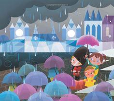 Disney: It's A Small World (Disney Parks Presents) Cute Disney Pictures, Pretty Pictures, Joey Chou, Disney Artists, Cartoon Background, Retro Illustration, Disney Scrapbook, Mural Art, Shape Design