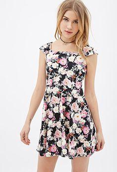 Photo-Floral Skater Dress | FOREVER21 - 2000117563