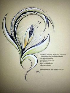 Kirjan: Jeesus Islamin Profeetta (Jaakko Hämeen-Anttila) inspiroimia piirrustuksia. Annukka Yliruusi 2014