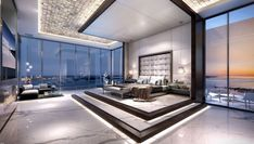 Echo Brickell Penthouse (Miami) – Robb Report Penthouse For Sale, Luxury Penthouse, Luxury Condo, Luxury Homes Dream Houses, Luxury Apartments, Penthouse Apartment, Mansion Bedroom, Modern Mansion, Pent House