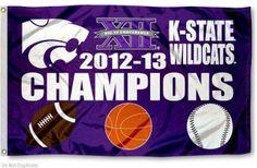 Big XII Basketball and Football Champs Flag
