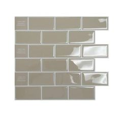 Smart Tiles 11 in. x 11 in. Peel and Stick Sand Mosaik Decorative Wall Tile-SM1022-1 at The Home Depot