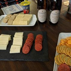 Paumanok Vineyards Riesling and some fancy cheese and crackers one delicious way to start a gathering. #wine #liwine #licharacter #longisland http://ift.tt/2rgA48R