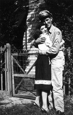 WWIIHoneys....soldier in WW11...hugging his girl