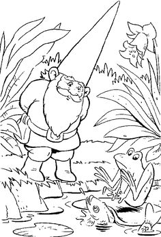 Gnome Printable | David the Gnome Coloring Pages - ColoringPagesABC.Com
