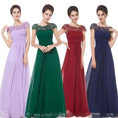 Ever Pretty Elegant Ladies Lace Long Formal Evening Ball Gown Prom Dress 09993 #EverPretty #Vintage #Formal