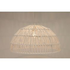 Hanglamp wit/crême halve bol touw ROPE II | groot Ø 50 cm