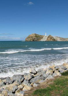 Castlepoint lighthouse, Wairarapa, New Zealand