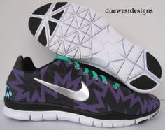 NIKE FREE TR FIT 3 PRINT 6.5 PURPLE BLACK aztec leopard 3.0 roshe cheetah run 5
