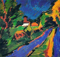 bofransson:    Karl Schmidt-Rottluff/ Dangast Landscape (1910)