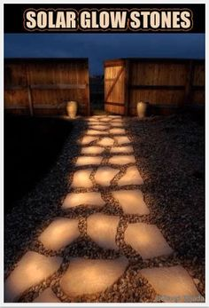 "Fake - Solar Glow Stones - This image has nothing to do with self-lighting or solar powered stones. The photographic process is called ""Light  Painting"" by the creator David Tejada. Follow the link for the whole story."