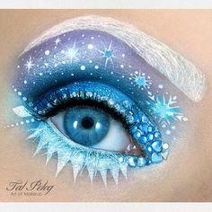 tal_peleg FROZEN INSPIRED #cosmetics #makeup #eye