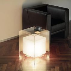 This Creative Table Includes Built-In Lighting.  http://www.opulentitems.com/Creative-Floating-Table_p_1193.html