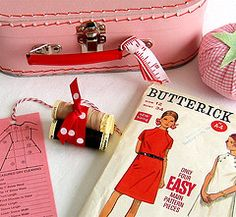 vintage patterns and notions