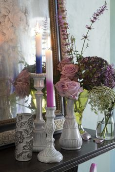 Designers Guild Saraille candles are the perfect table piece for Christmas