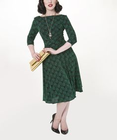 Loving this Green Dazzle Circle Dress - Women & Plus on #zulily! #zulilyfinds