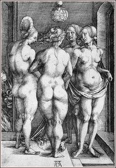 The Four Witches -  German Painter Albrecht Dürer 1497.